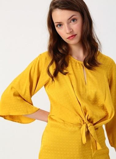 Koton Koton Bel Detaylı Sarı Bluz Sarı
